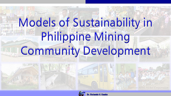 Models of Sustainability in Philippine Mining Community Development